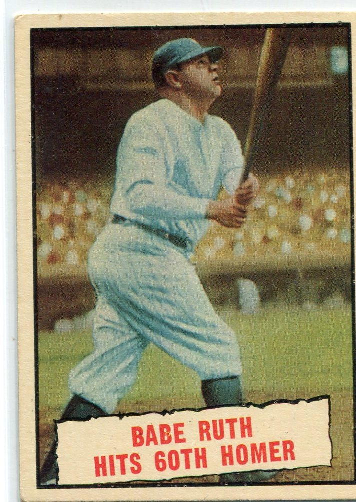 1962 Topps #139A1 Babe Ruth Special 5/Babe Hits 60