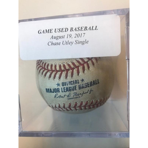 Game-Used Baseball: Chase Utley Single