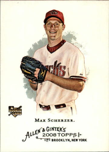 Photo of 2008 Topps Allen and Ginter #297 Max Scherzer Rookie Card