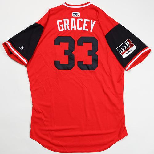 "Photo of Matt ""Gracey"" Grace Washington Nationals Game-Used Jersey 2018 Players' Weekend Jersey"