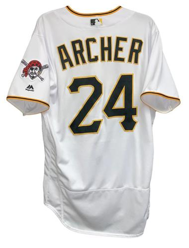 Photo of Chris Archer 2018 Game-Used Jersey - 4.0 IP, 5 H, 1 ER, 3 SO