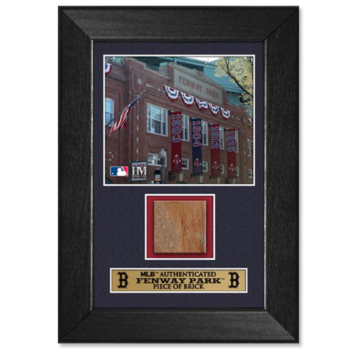 Photo of Boston Red Sox Game-Used Brick Plaque
