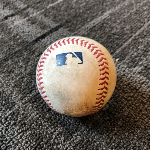 Photo of 2019 Game Used Baseball - San Francisco Giants vs. Los Angeles Dodgers - 4/30/19 - T-9: Ty Blach to Alex Verdugo - Pitch in the Dirt. Also Justin Turner Singles to Right Field & Corey Seager Fly Out to Center Field
