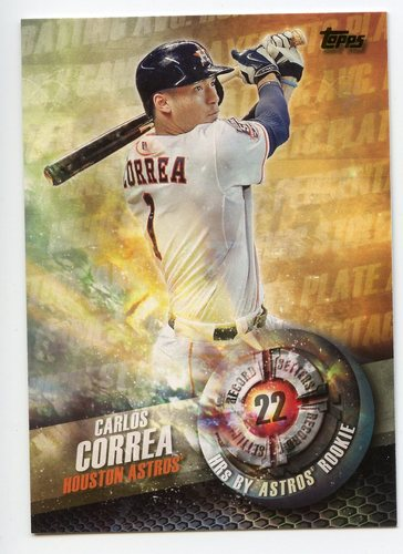 Photo of 2016 Topps Record Setters #RS4 Carlos Correa