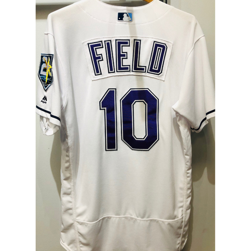 Photo of 2018 Game Used Devil Rays Jersey: Johnny Field (size 44) - June 23, 2018 v NYY