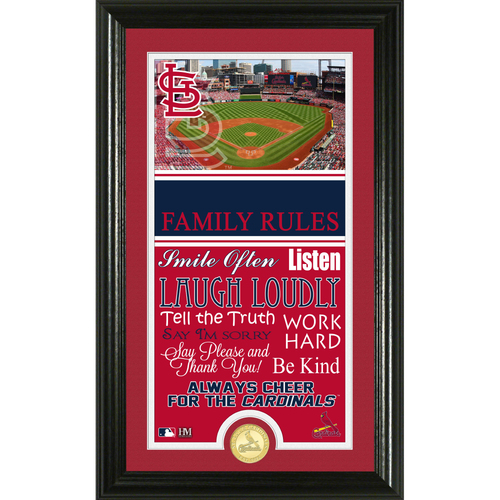 Photo of St Louis Cardinals Personalized Family Rules Photo Mint