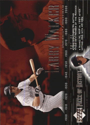 Photo of 2002 UD Piece of History #90 Larry Walker