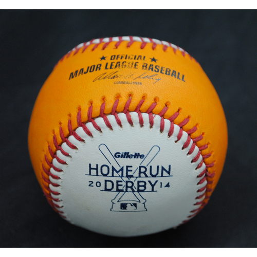 Photo of 2014 Home Run Derby (07/14/2014) - Game-Used Baseball - 1st Round (Orange Flex Ball)