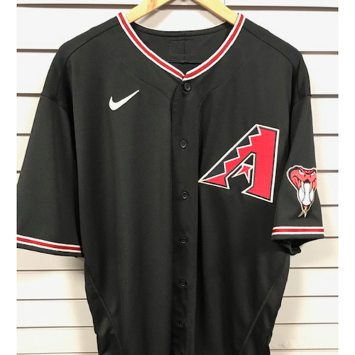 Photo of 4-Time All-Star Madison Bumgarner 2020 Team-Issued Black Alternate Jersey (Size 50 + 0.5S)