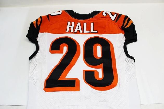 NFL Auction | LEON HALL GAME WORN BENGALS JERSEY OCTOBER 5, 2014