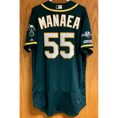 Photo of Game-Used Jersey - Sean Manaea 9/1/19 ND, 5 SO & 9/15/19 W (2), 6 SO