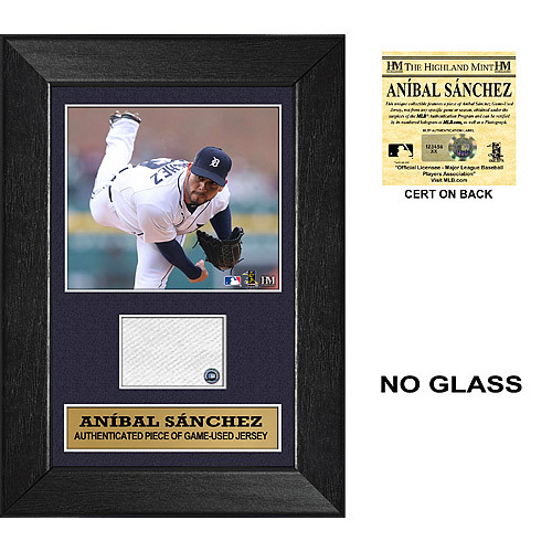 Photo of Detroit Tigers Anibal Sanchez Mini Plaque with Game Used Jersey Swatch