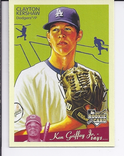 Photo of 2008 Upper Deck Goudey #75 Clayton Kershaw Rookie Card