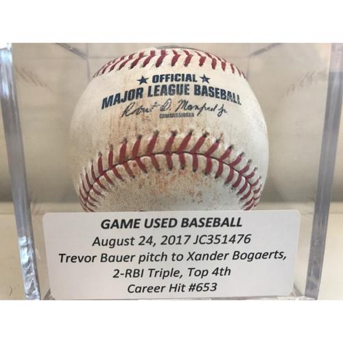 Game-Used Baseball: Xander Bogaerts 2-RBI Triple, Career Hit #653