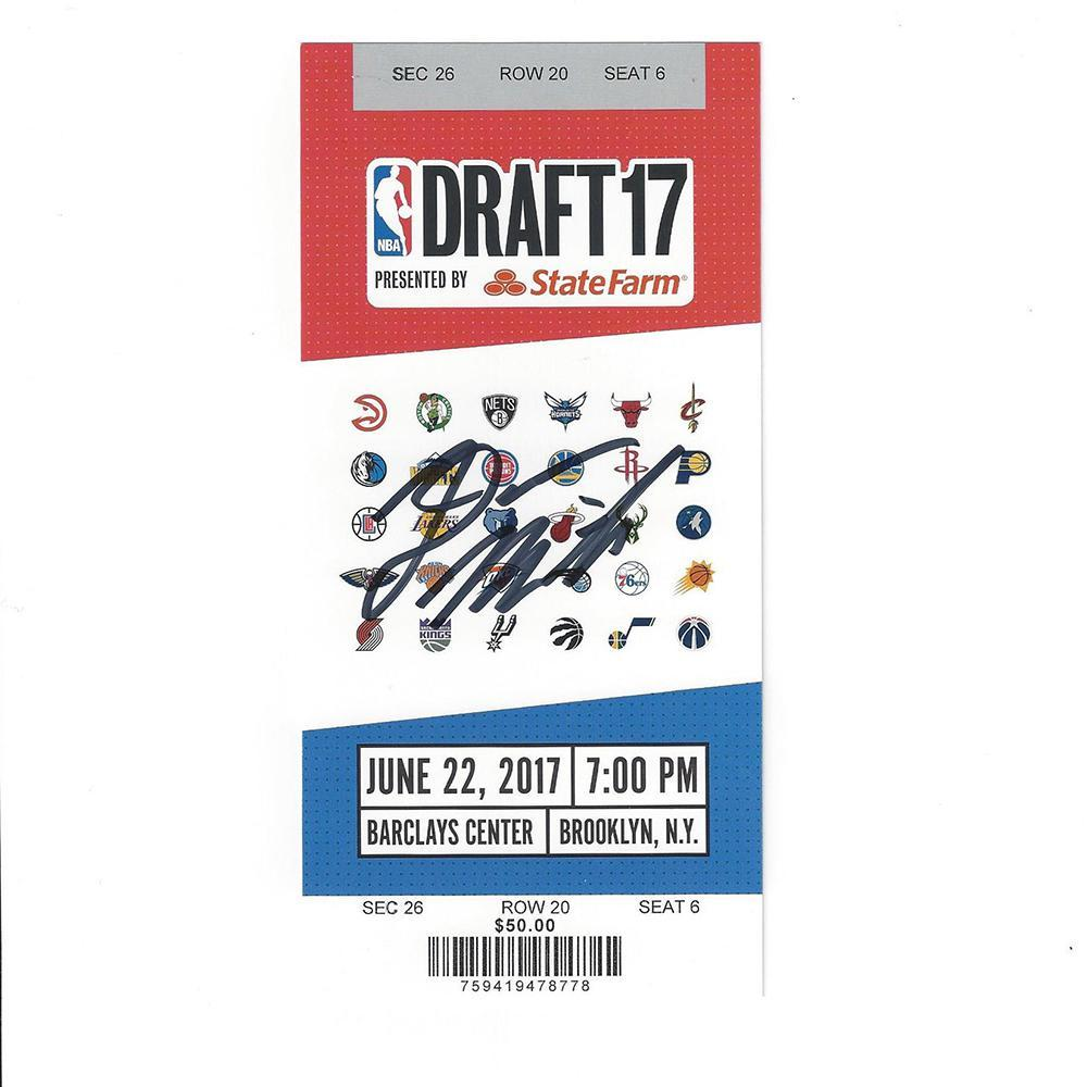 Donovan Mitchell - Utah Jazz - 2017 NBA Draft - Autographed Draft Ticket
