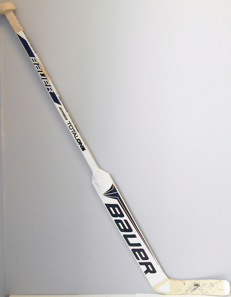 #34 James Reimer Game Used Stick - Autographed - Toronto Maple Leafs