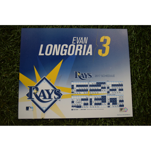 2017 Team-Issued Locker Tag - Evan Longoria