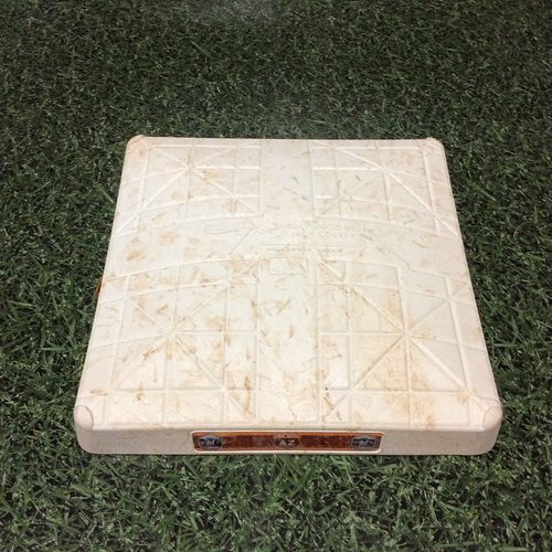 Photo of Game-Used 2017 Spring Training 3rd Base - Jesus Aguilar Team-Leading 7th HR (03/29/17)