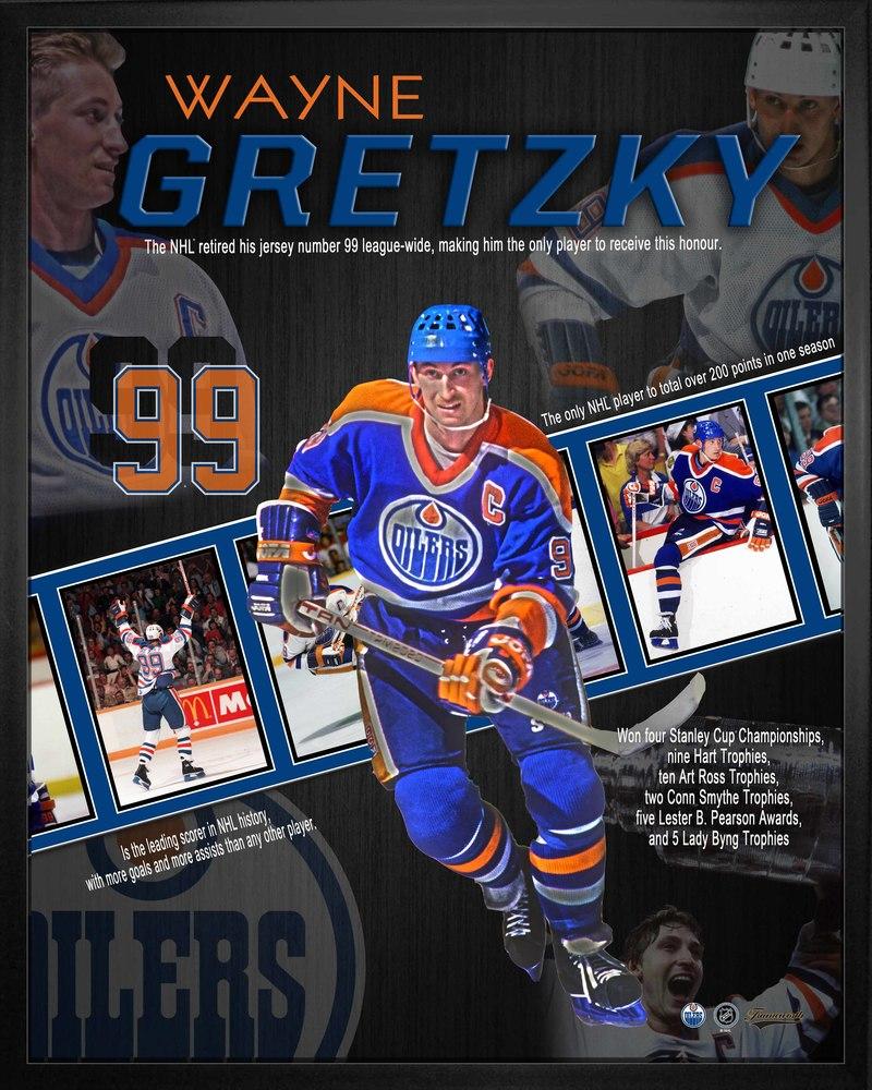 Wayne Gretzky 16x20 Career Collage Oilers