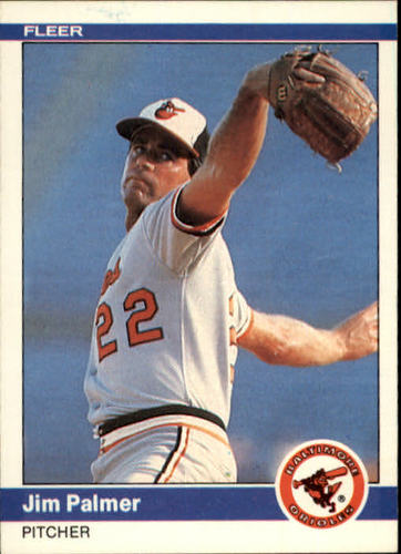 Photo of 1984 Fleer #16 Jim Palmer -- Hall of Fame Class of 1990