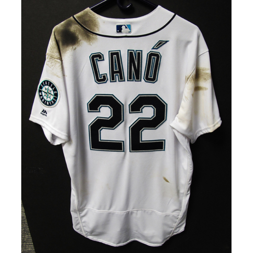 Photo of Robinson Cano 2018 White Home Game-Used Jersey