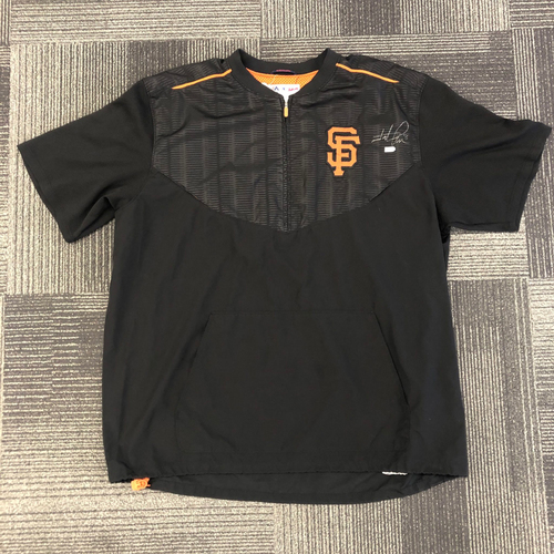 Photo of Autographed Pullover Jacket - Signed by 4x All Star #8 Hunter Pence - Size 2XL