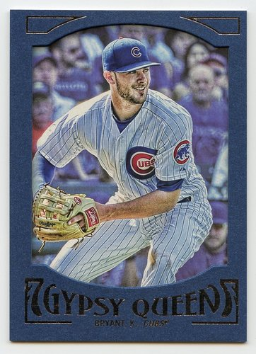 Photo of 2016 Topps Gypsy Queen Framed Blue #79 Kris Bryant