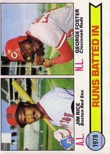 Photo of 1979 Topps #3 RBI Leaders/Jim Rice/George Foster