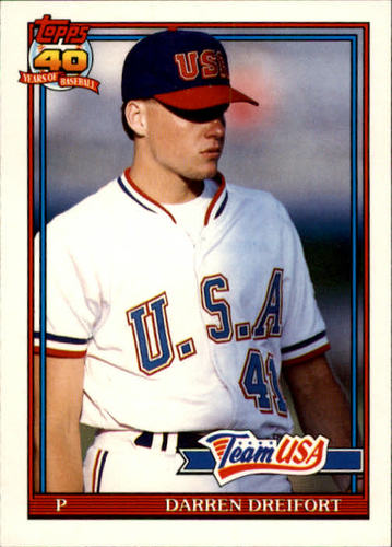 Photo of 1991 Topps Traded #34T Darren Dreifort USA RC
