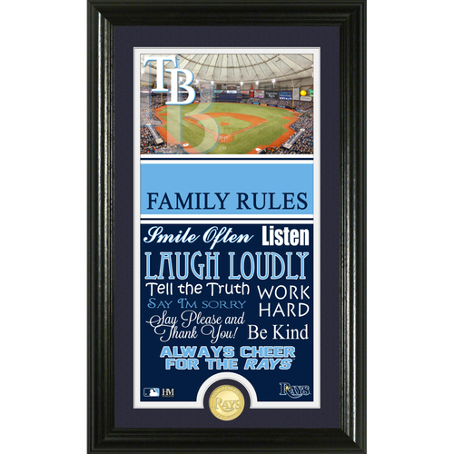 Photo of Tampa Bay Rays Personalized Family Rules Photo Mint