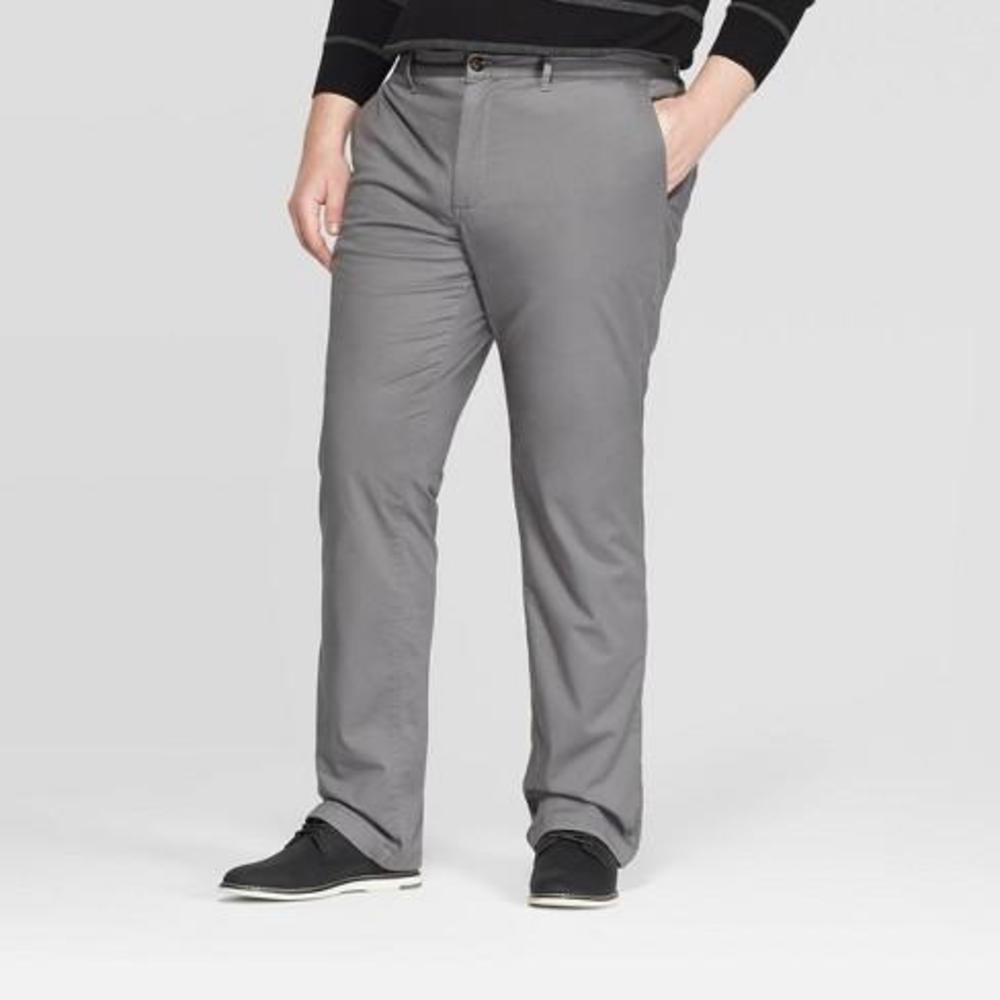 Photo of Mens Big & Tall FlannelLined Straight Chino Pants