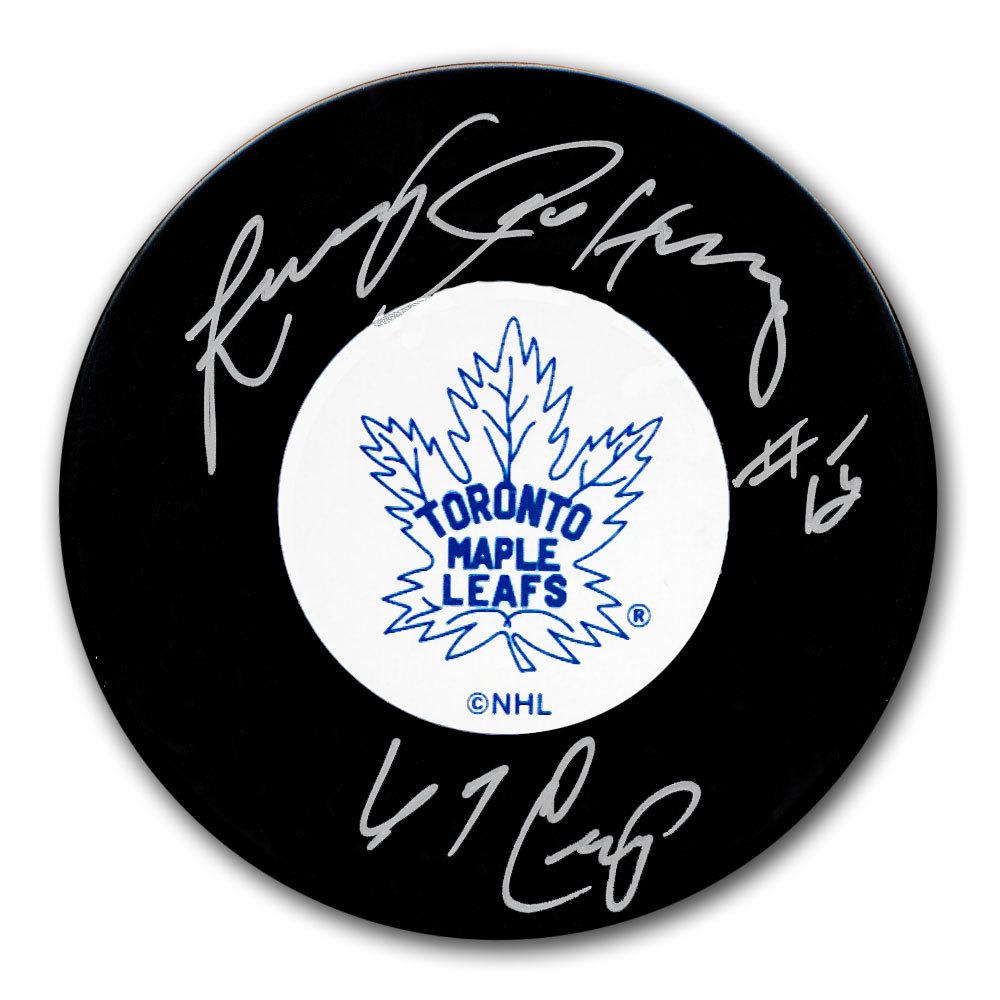 Larry Jeffrey Toronto Maple Leafs 1967 Cup Autographed Puck