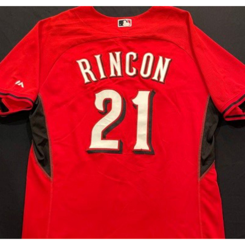 Photo of RINCON -- Authentic Reds Jersey -- $1 Jersey Auction -- $5 Shipping -- Size 48 (Not MLB Authenticated)