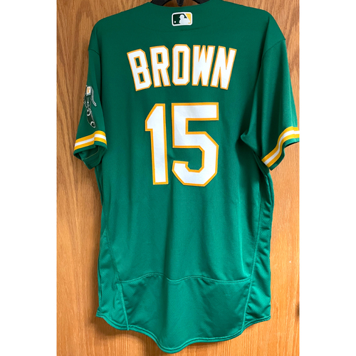 Photo of Game-Used Jersey - Seth Brown; HR #3 (4/21/21 vs. Minnesota Twins)