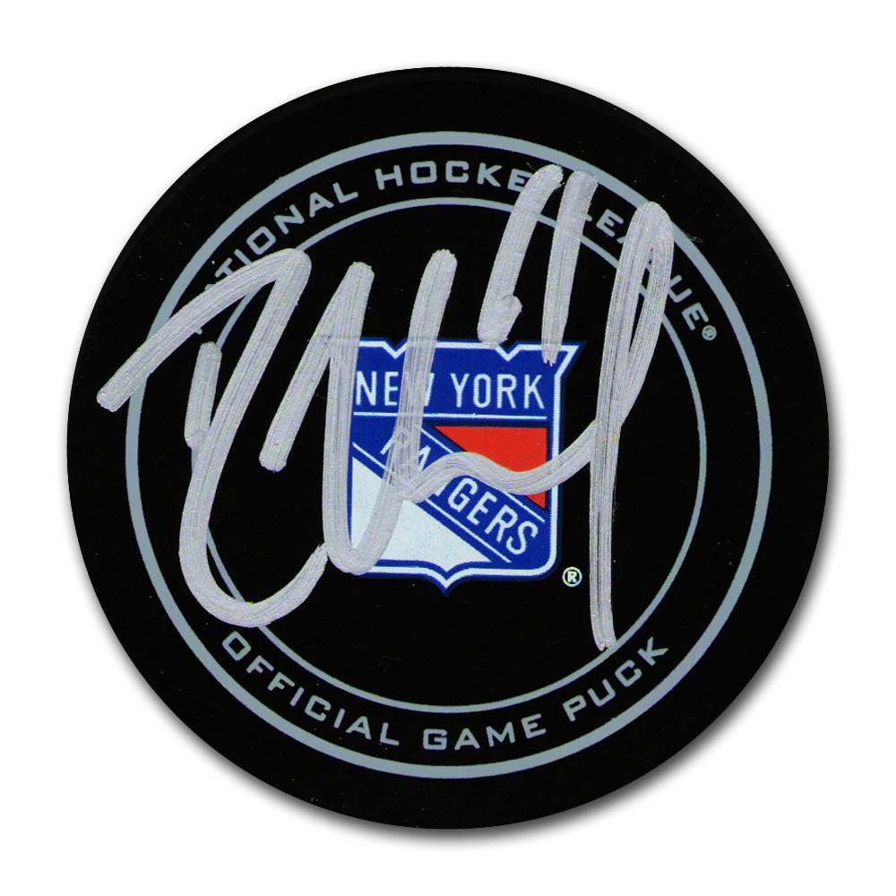 Rick Nash Autographed New York Rangers Official Game Puck