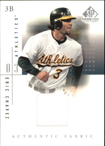 Photo of 2001 SP Game Used Edition Authentic Fabric #EC Eric Chavez