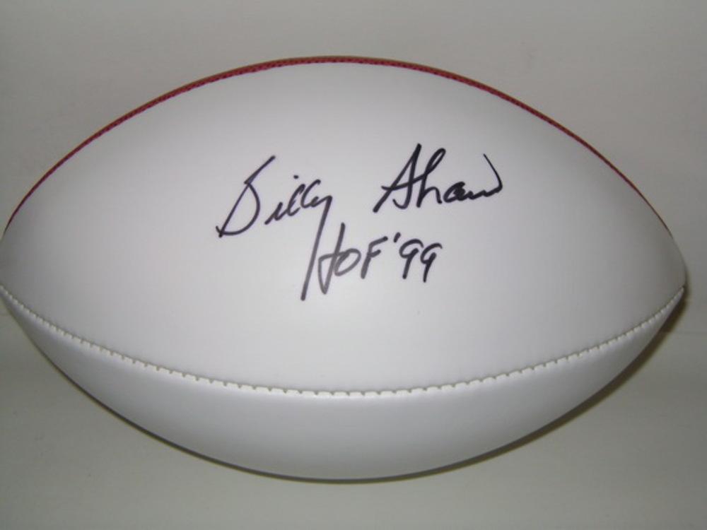 HOF - BILLS BILLY SHAW SIGNED PANEL BALL