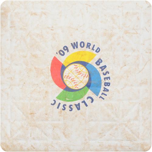 2009 WBC: Round 1 - Italy vs. Venezuela Game-Used 2nd Base