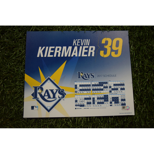 2017 Team-Issued Locker Tag - Kevin Kiermaier