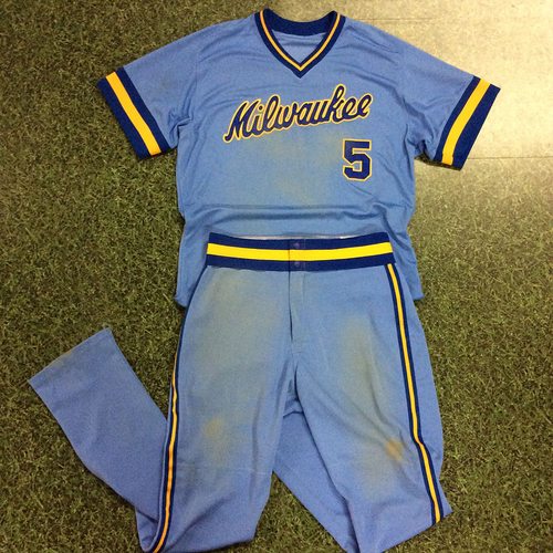 Photo of Jonathan Villar 1983 Throwback Uniform (Game-Used Jersey & Game-Used Pants)