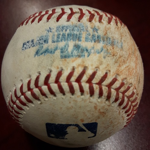 Photo of Authenticated Game Used Baseball - Bryce Harper Single and Anthony Rendon Double vs John Axord on June 15, 2018 (Top 8)