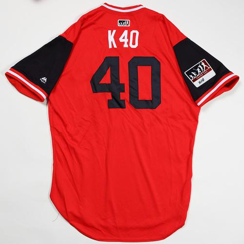 "Photo of Kelvin ""K 40"" Herrera Washington Nationals Game-Used Jersey 2018 Players' Weekend Jersey"