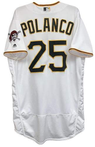 Photo of Gregory Polanco 2018 Game-Used Jersey - 1 Hit, 1 Run, 1 RBI, 4 Walks