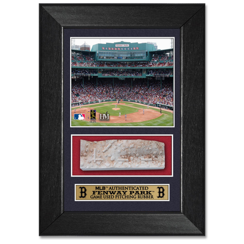 Photo of Boston Red Sox Game-Used Pitching Rubber Plaque