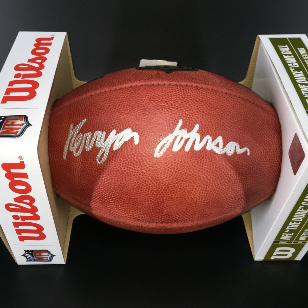NFL - Lions Kerryon Johnson Signed Authentic Ball