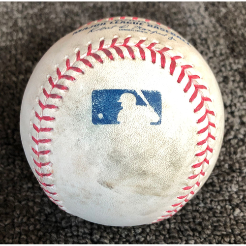 Photo of 2019 Game-Used Baseball used on 5/15/19 vs. Toronto Blue Jays - T-2: Shaun Anderson to Luke Maile - Strike Out Swinging (McKinney Caught Stealing 2nd) - Shaun Anderson Career Strikeout #3 & MLB Debut