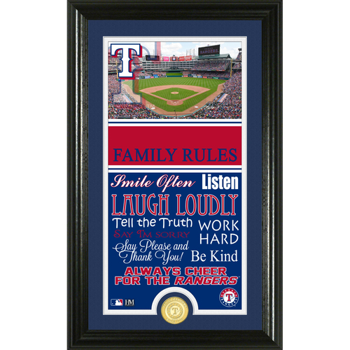 Photo of Texas Rangers Personalized Family Rules Photo Mint