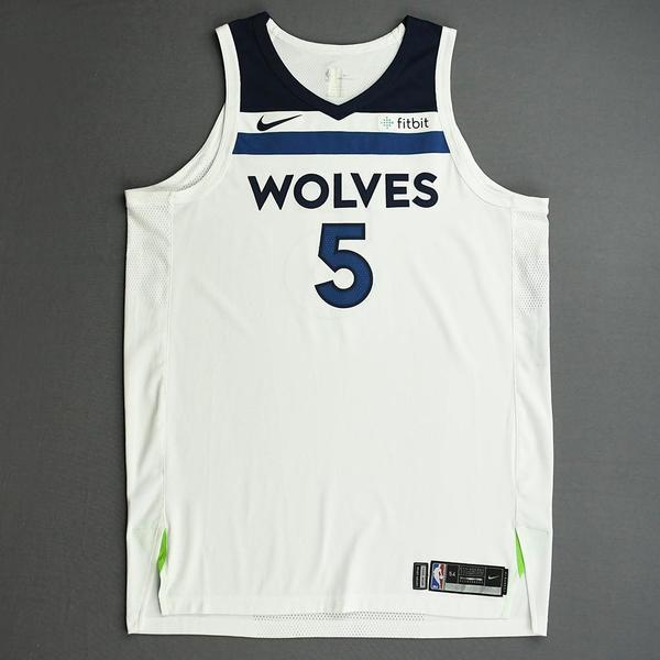 Image of Gorgui Dieng - Minnesota Timberwolves - NBA China Games - Game-Worn Association Edition Jersey - 2017-18 NBA Preseason