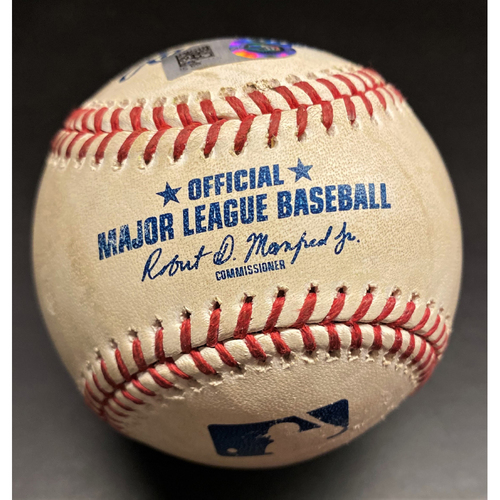 Photo of Game-Used Baseball:  Miguel Cabrera Detroit Tigers RBI Single to tie Frank Thomas for 22nd on All-Time RBI Leaderboard (MLB AUTHENTICATED)