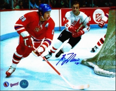 GUY LAFLEUR Team Canada SIGNED 8x10 1976 Canada Cup Photo